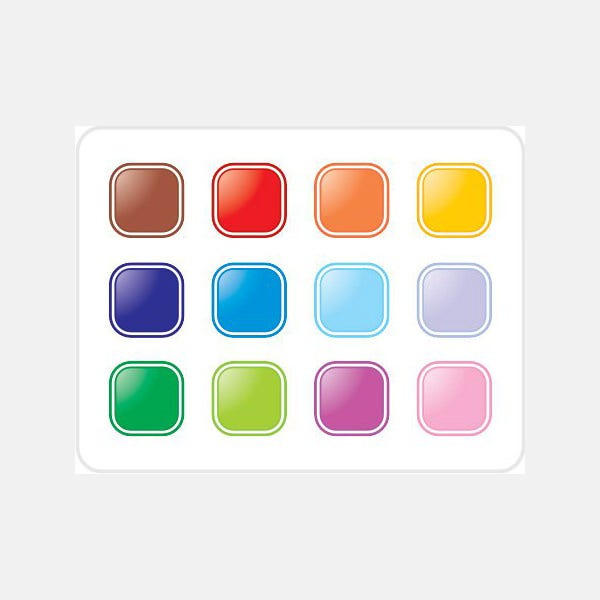 Colorful buttons Vector Graphic