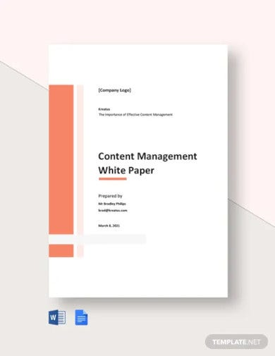 content management white paper template
