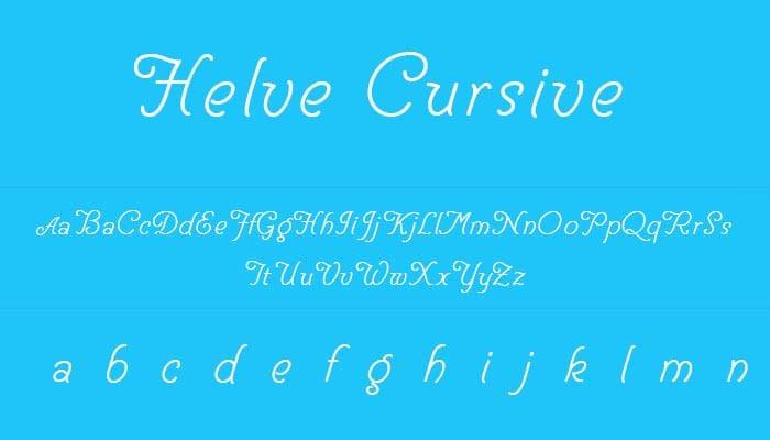 cool cursive font 2