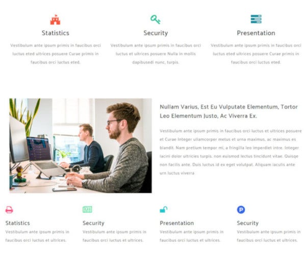 corporate flat bootstrap website template