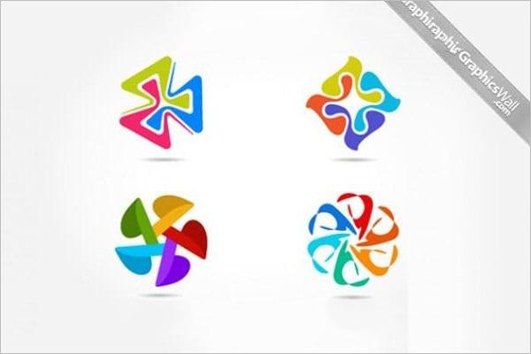 creative colorful windmill logo templates