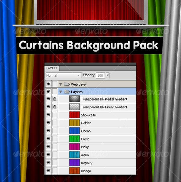 curtains backgrounds pack