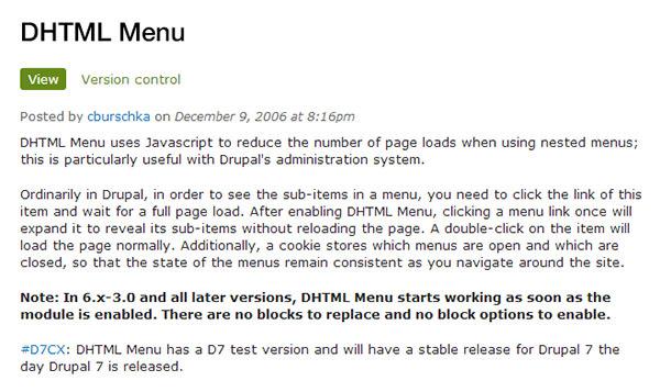 dhtml menu