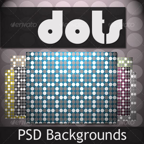 dots psd background pack