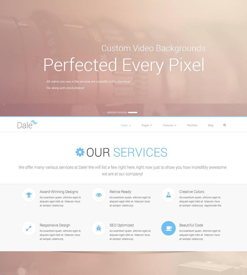 Dale Responsive Html5 Theme