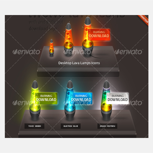 Desktop Lavalamp Icon Set