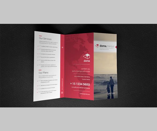 Modern Business Brochure PSD Templates Free Premium Templates - Fold brochure template