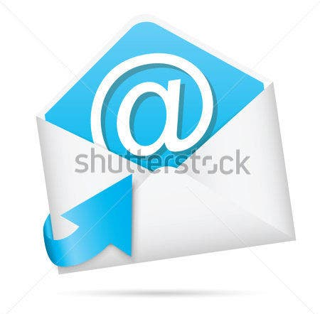 e mail icon with arrow vector eps10