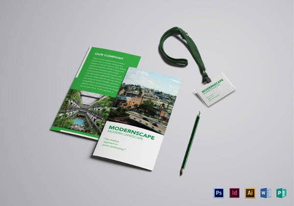 editable landscape brochure download