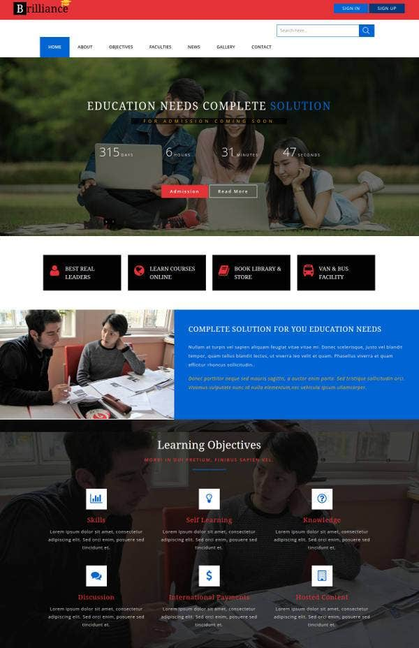 education-bootstrap-website-template-with-html-and