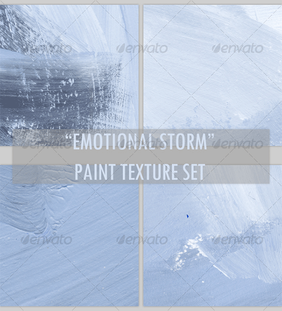 emotional storm paint texture set