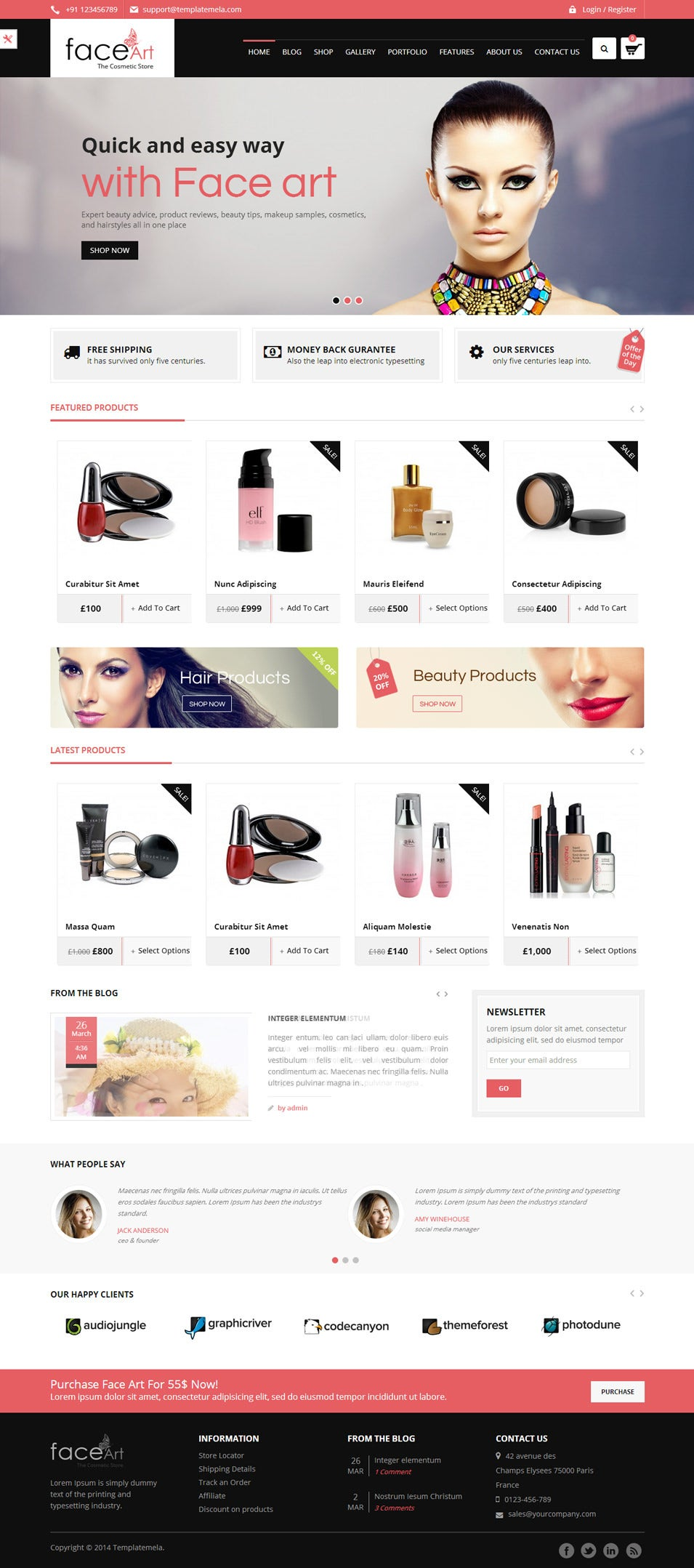 face art woocommerce responsive theme