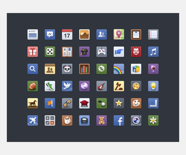 facebook icon set