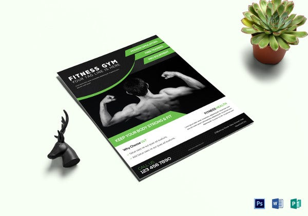fitness gym flyer template in photoshop