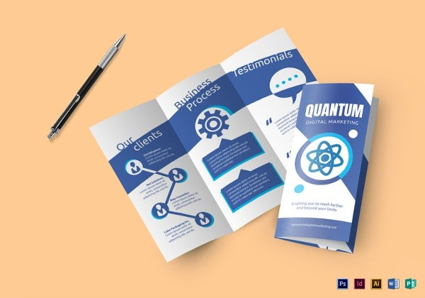 flat design digital marketing brochure template