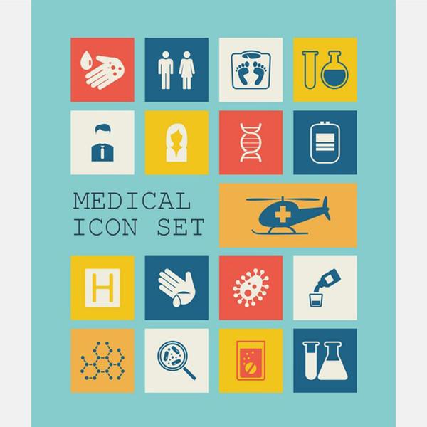 flat medical icons 17749