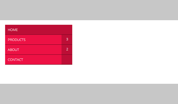 Flat Numbered jQuery Accordion Menu