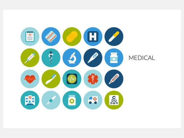 Flat icons set - Medical