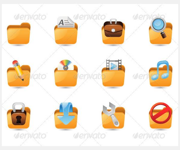 folder icon set 27299