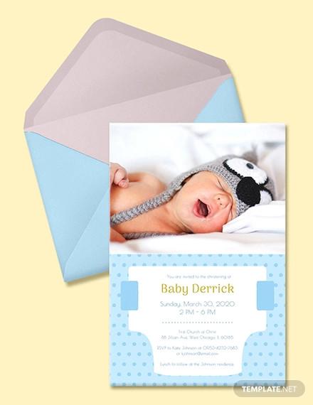 free diaper invitation