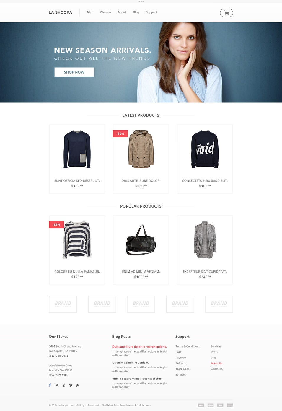 free ecommerce website templates - 60 free psd website templates free premium templates