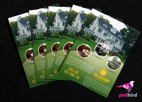 free real estate brochure psd