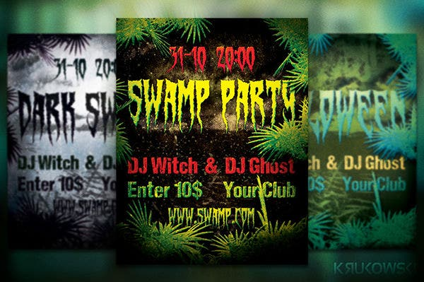 free swamp flyer poster