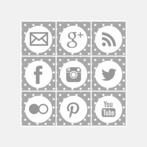 Free grey polka dot square social media icons