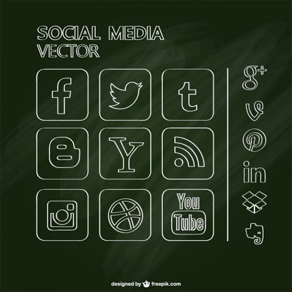 Free social media chalkboard design