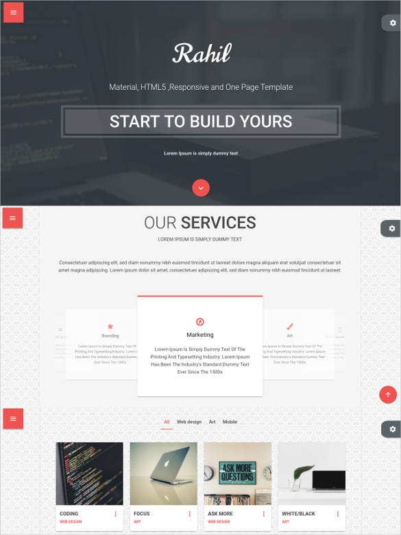 fully responsive one page html5 template1
