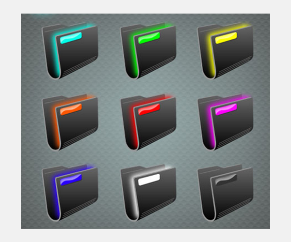 glo folder icons