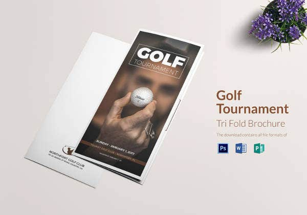 golf tri fold brochure template