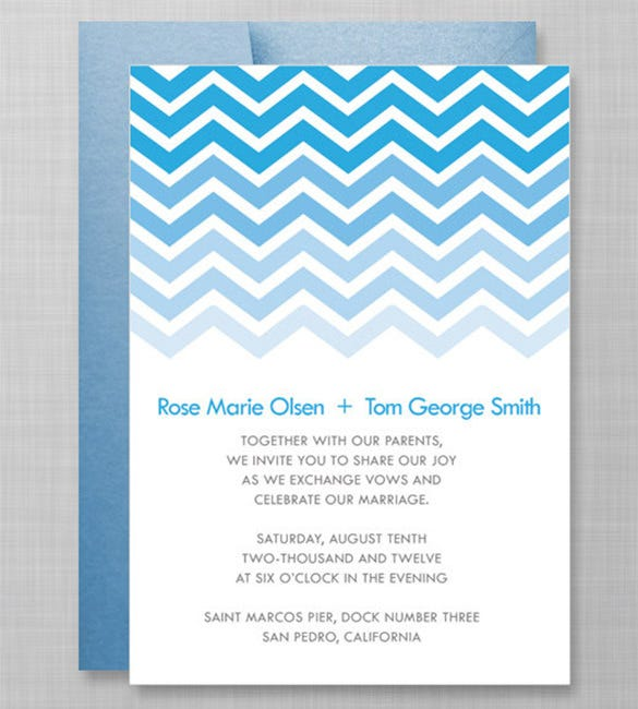 Gradient Chevron Invitation Template  Party Invitation Template Word