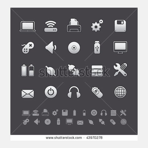 Gray Deluxe Icon Sets