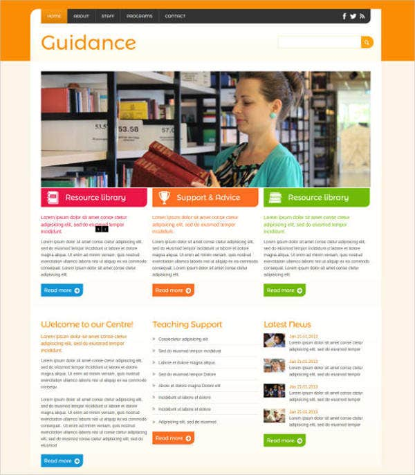 guidance-mobile-education-website-template