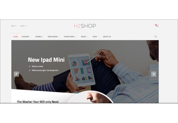 h2shop responsive multipurpose virtuemart theme