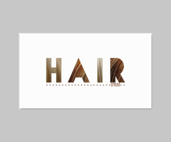hair stylist todays best award business card