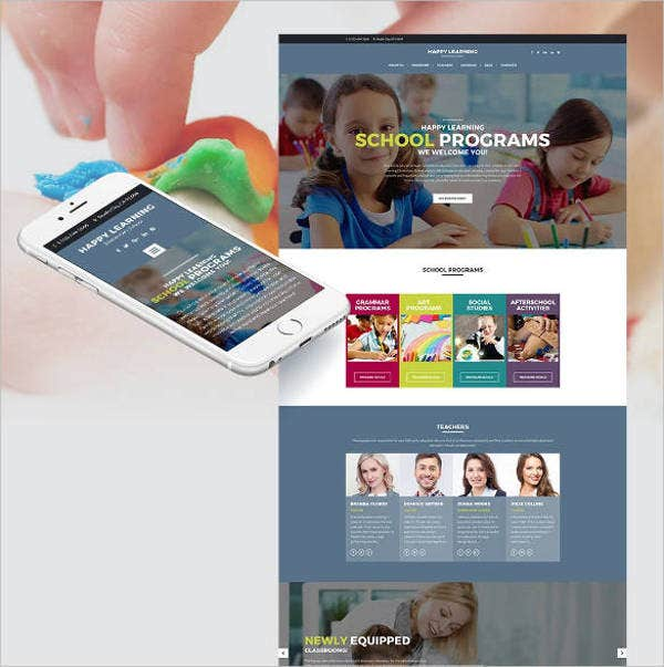 happy learning responsive website1