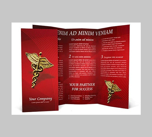 Heart Model Brochure Template