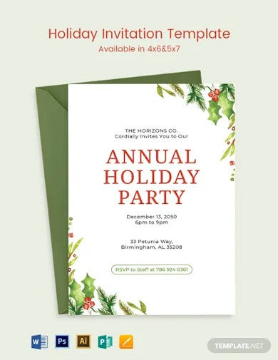 holiday invitation template