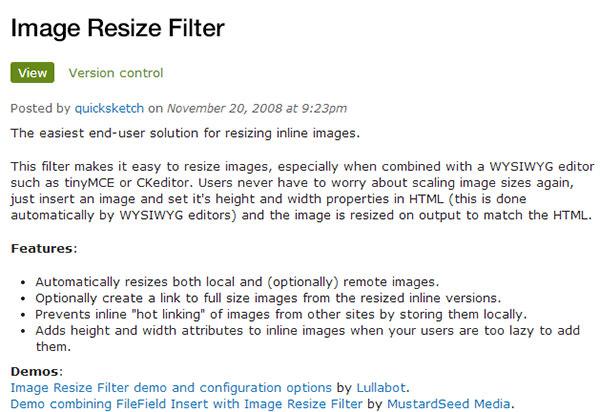 image resize filter