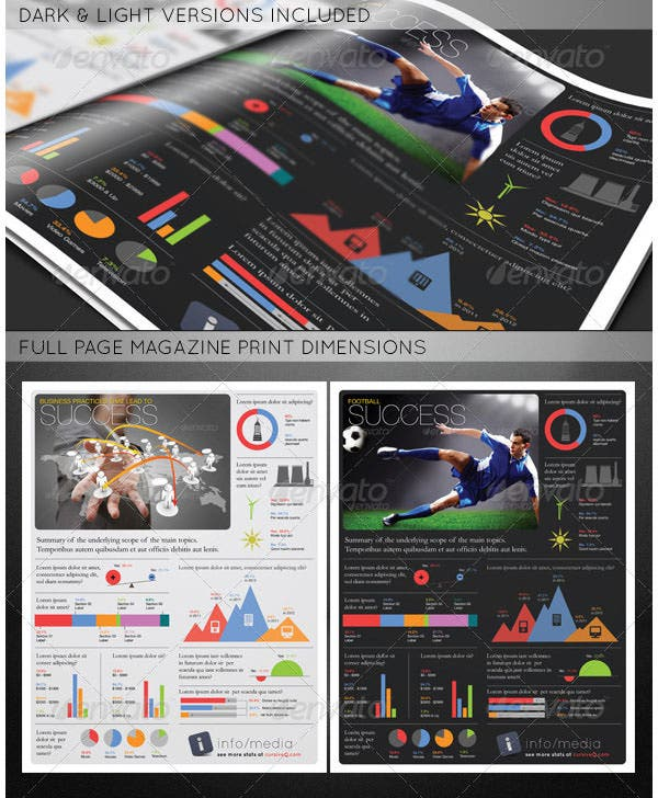 infographic print ad template