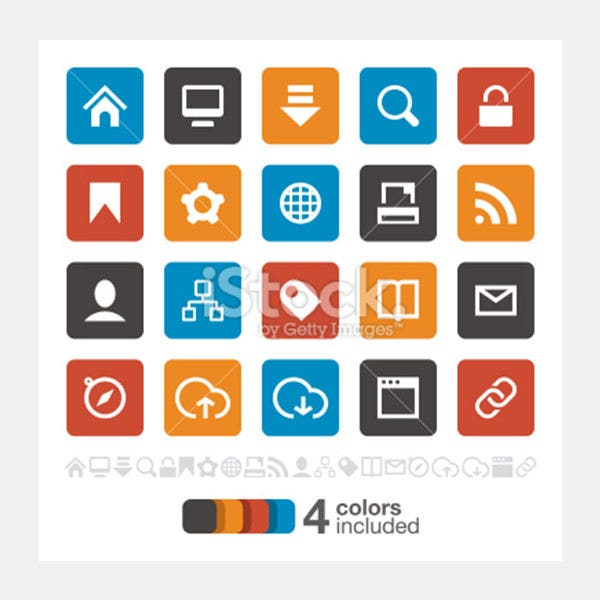 Internet and Website icons set 1