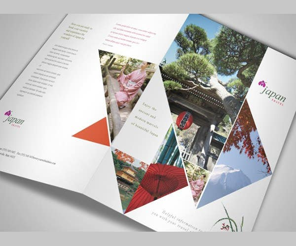 japan travel brochure template - 18 amazing travel tourism brochure templates free
