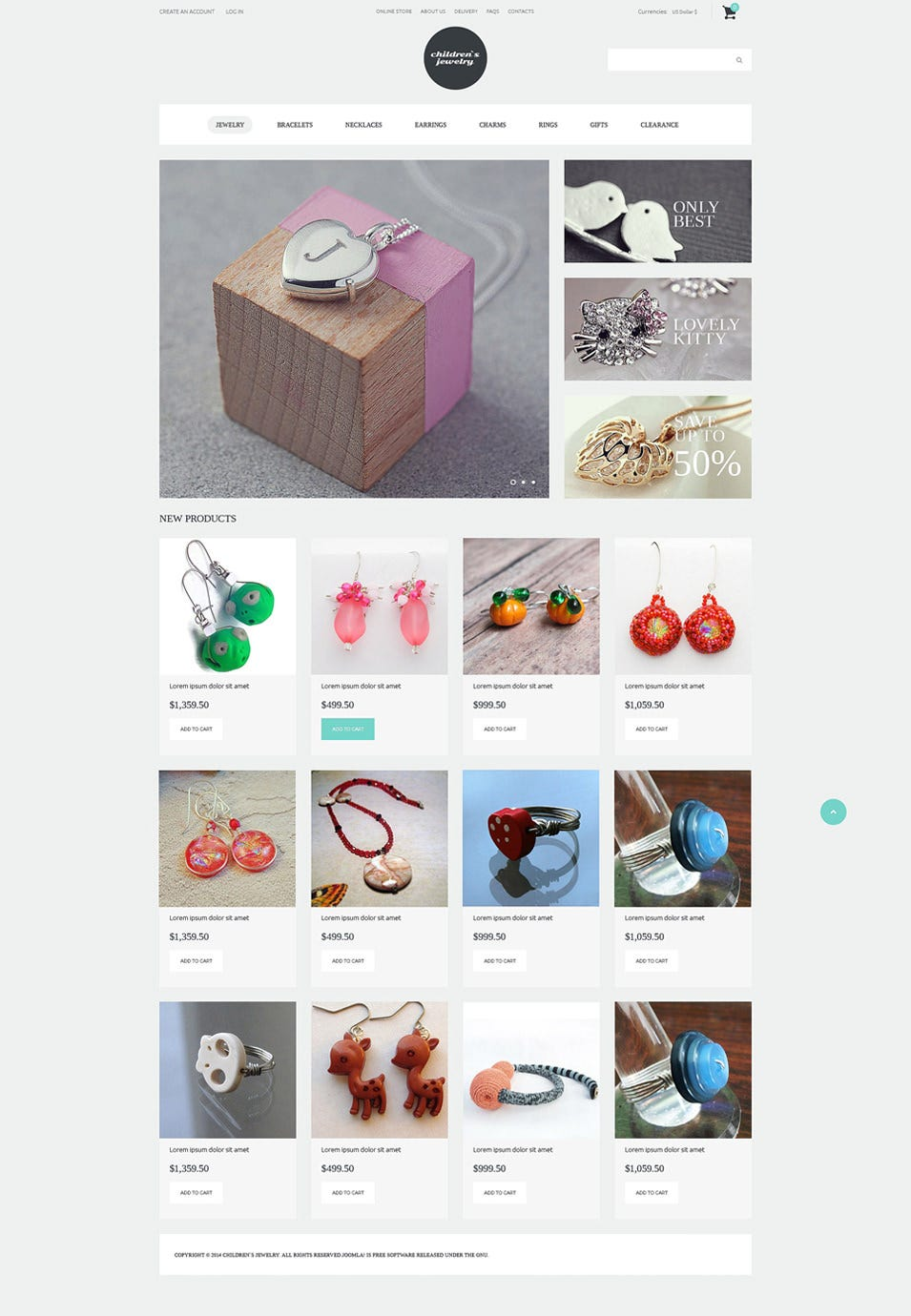 jewelry for young fashionista virtuemart template