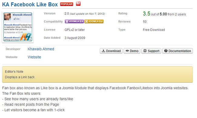 KA Facebook Like Box