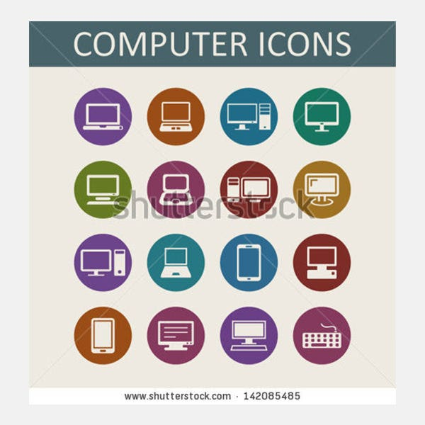 Laptops and computers icons
