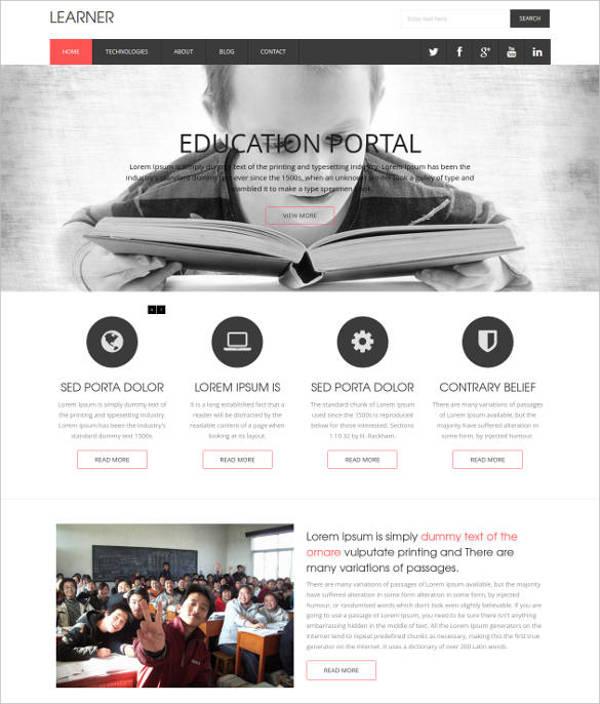 learner education flat responsive website template1