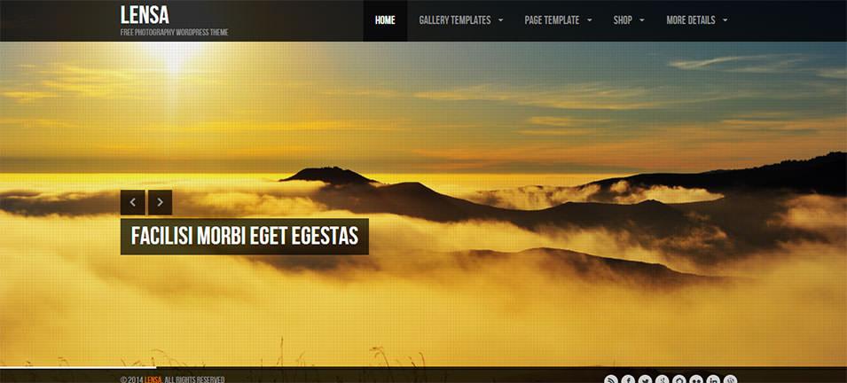 lensa free photography wordpress theme