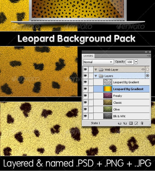 leopard backgrounds pack
